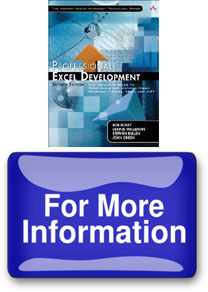 professional excel development the definitive guide pdf